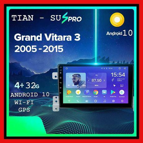 Штатная магнитола SUZUKI GRAND VITARA 2005-2016 Android 10 4/32Гб