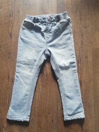 Spodnie H&M, jeansy szare 92