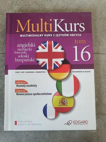 Multi kurs językowy 5języków, 16tomów+16płyt CD