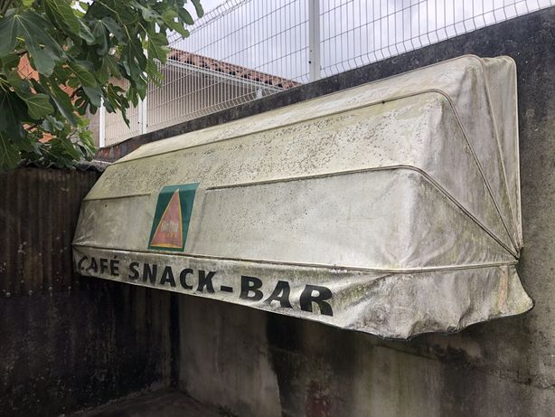 Tolde em lona / Toldo extencivel com estrutura aluminio / Snack Bar /