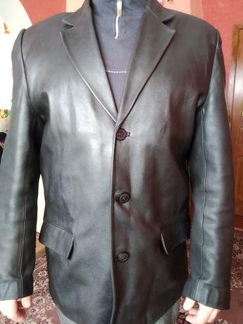 Пиджак классика кожа