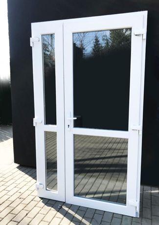 NOWE Drzwi zewnętrzne WZMOCNION kolor biały 160x210