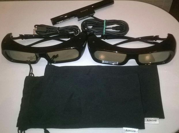 Okulary SONY 3D I TRANSMITER. Nowe! Model TDG- BR 250.Cena za komplet.