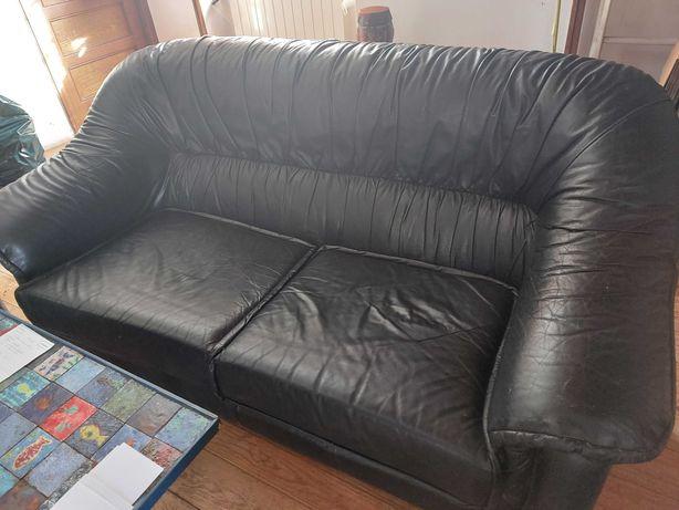 Terno de sofás com cama