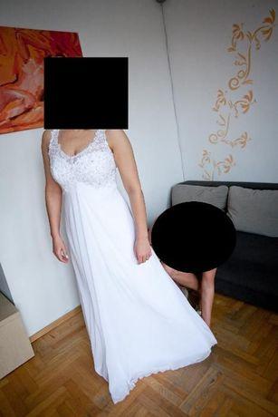 Urocza Elegancka Suknia Ślubna