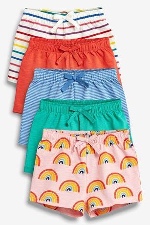 116 NEXT SPODENKI szorty kolorowe bawełniane lato NOWE