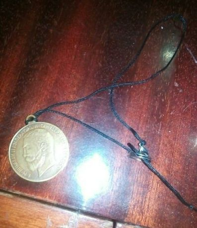 Медаль переделанная в амулет