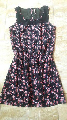 Sukienka Cropp roz 36 lato kwiaty mgiełka