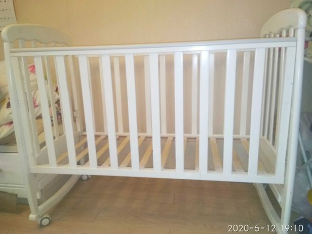 Кроватка детская. Верес ЛД 9. Белая