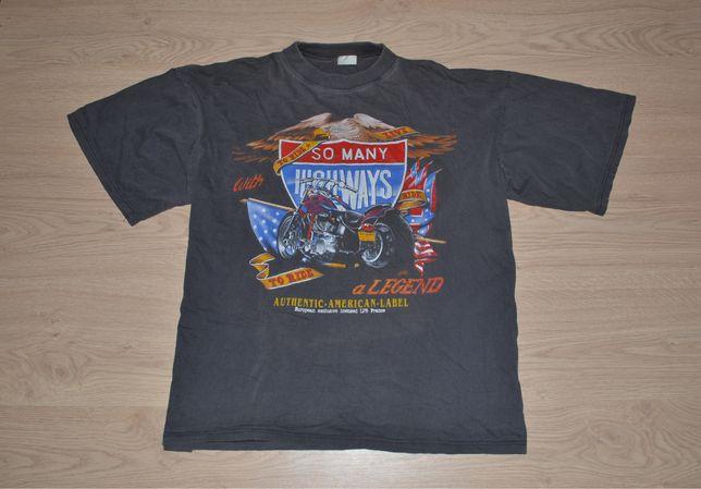 футболка Vintage American Label harley davidson винтаж мерч