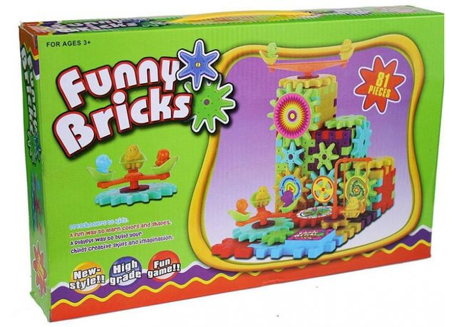 Детский развивающий конструктор Funny Bricks на 81 деталь