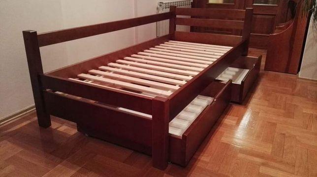 """Łóżko sosnowe drewniane """"N"""" 90x200 tanio!"""