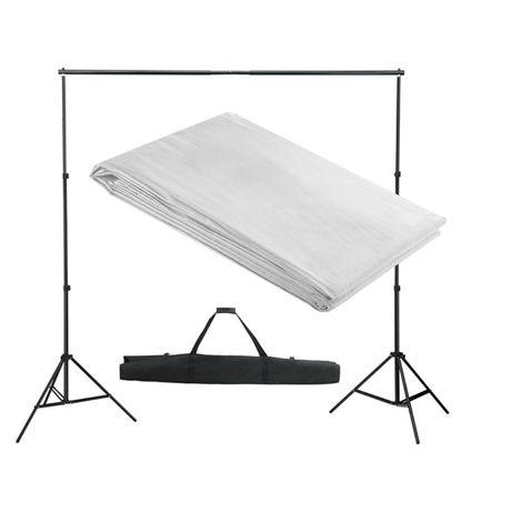 vidaXL Sistema porta-fundos 300 x 300 cm branco 160068