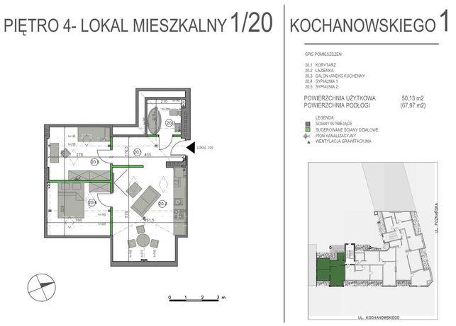 Sprzedam mieszkanie poddasze 68m2, Jeżyce, Kochanowskiego 1, Poznań