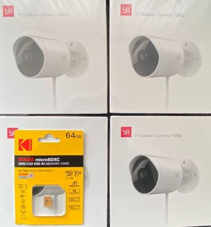 YI Outdoor ZEWNĘTRZNA kamera domowa WIFI + KARTA KODAK 64GB