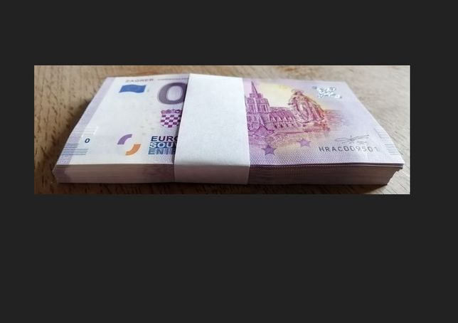 0 Euro -Zagreb - Zagrebacka katedrala Paczka bankowa 100szt Pakiet