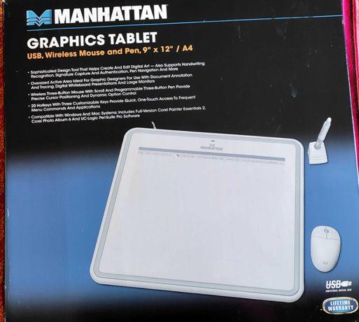 Tablet graficzny Manhattan biały A4 do rysowania