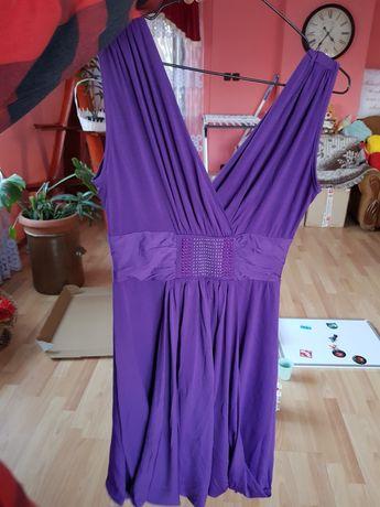 Sukienka bombka fioletowa S/M