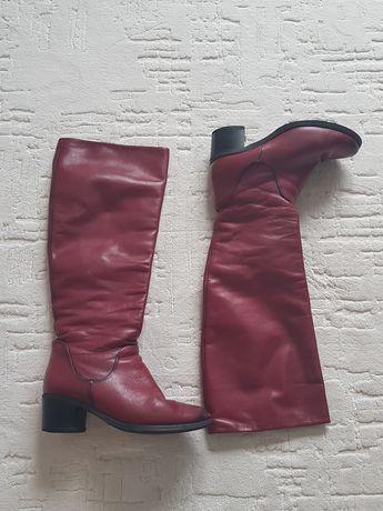 Шкіряні чобітки жіночі