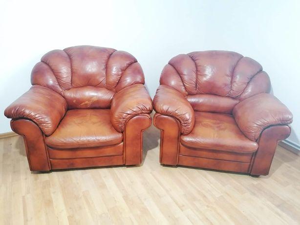 dwa skórzane fotele, ultra wygodne