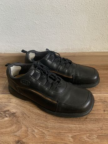 Мужские кожаные туфли полуботинки AM shoe