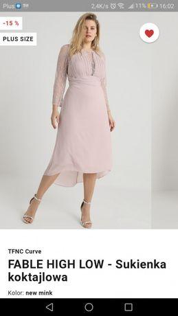 Sukienka koktajlowa Fable High Low rozmiar 50