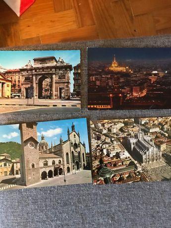 Postais da Tailandia e Itália