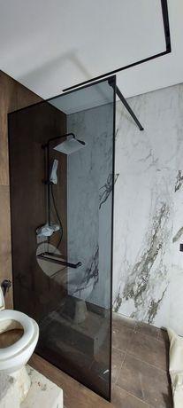 Стеклянная душевая перегородка, кабины перила из закалённого стекла