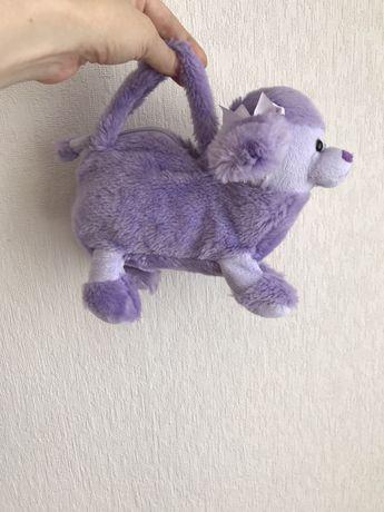 Детская сумочка. Игрушка собака. Сумка пудель.Киев