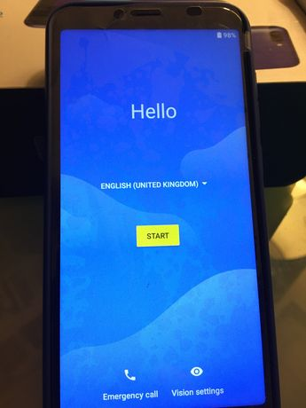 Telemóvel Alcatel 1S com capa de silicone