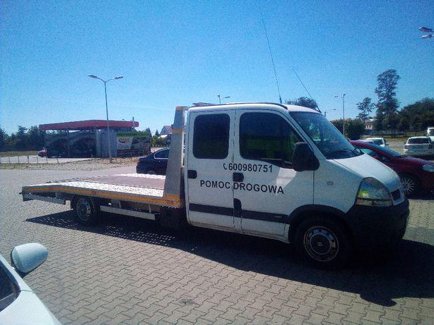 Pomoc drogowa S8, autolaweta, transport maszyn