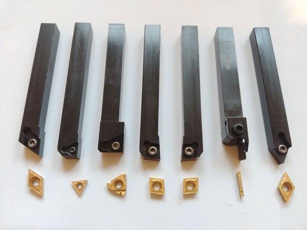 Резцы токарные по металлу 12х12, набор 7шт. Сменные пластины.