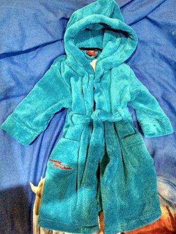 Теплый халат с капюшоном Disney для мальчика