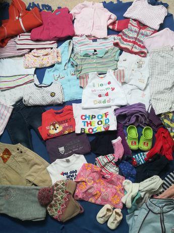 Mega paka ubranek dla dziewczynki 60 sztuk