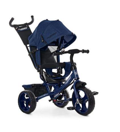 Велосипед трёхколёсный коляска TURBOTRIKE 3113, Синий, регулировка сид