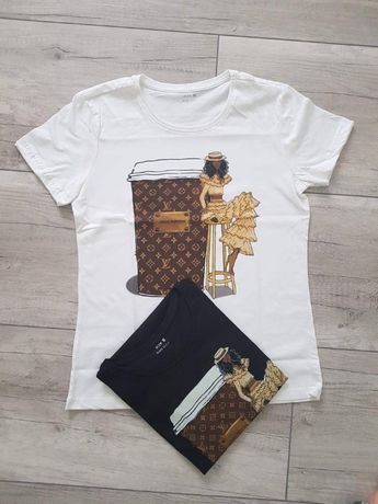 T-shirt louis vuitton damska koszulka 4rozm. 2 kol.