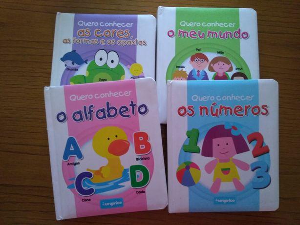 """Livros infantis """"Quero Conhecer"""""""