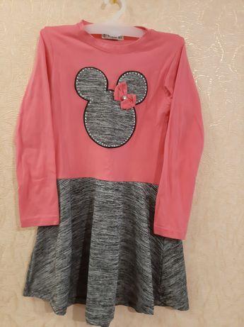 Платье микки в реале цвет розовый 128 р