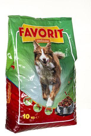 Karma sucha dla psa, psów, FAVORIT PIES 10kg z wołowiną