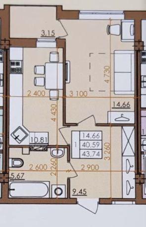Продажа квартиры, 1 комнатная, ЖК «Европейский Квартал»,КВП