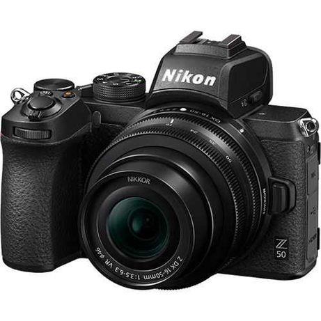 Nikon Z50 + NIKKOR Z 16-50mm + 64GB + Tripé - NOVA - garantia 2 anos