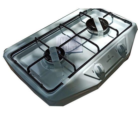 Настольная газовая плита гретта на 2 конфорки. Таганок для дачи.