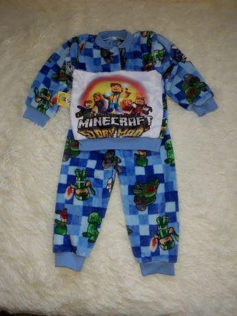 "Махровая пижама ""Майнкрафт"" для мальчика 1.5-2 лет"