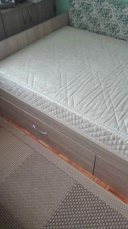 łóżko z dwoma szufladami 100 cm