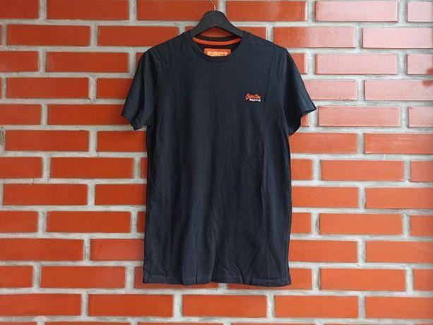 Superdry мужская чёрная футболка размер S
