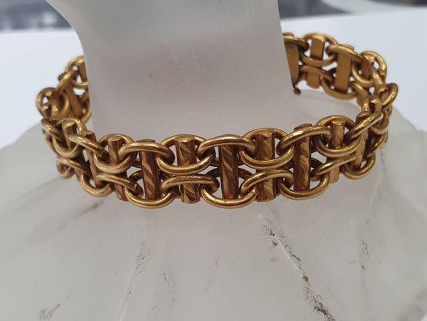 Wiekowa złota bransoletka damska/ 585/ 54.8 gram/ 19cm/ Wiekowa cecha