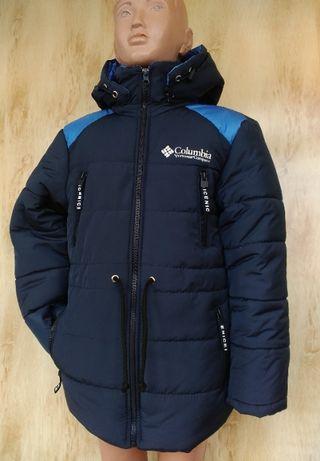 "Зимняя куртка парка на мальчика ""Columbia"" 4-5 лет Холодная зима"