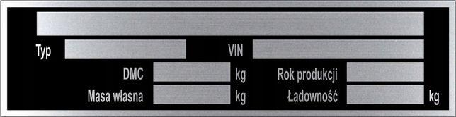 Tabliczka znamionowa aluminium