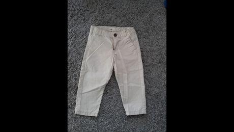 Jasne ecri spodnie eleganckie h&m roz 92