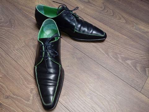 Eleganckie wizytowe pantofle meskie roz 41,5